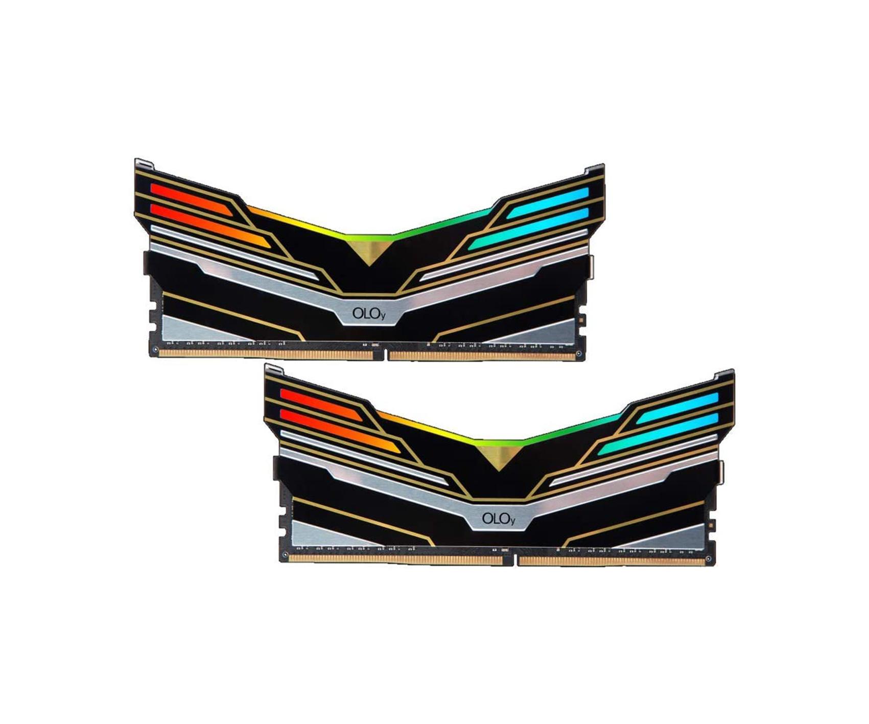 OLOy DDR4 RAM 16GB (2x8GB) Warhawk Aura Sync RGB 3200 MHz