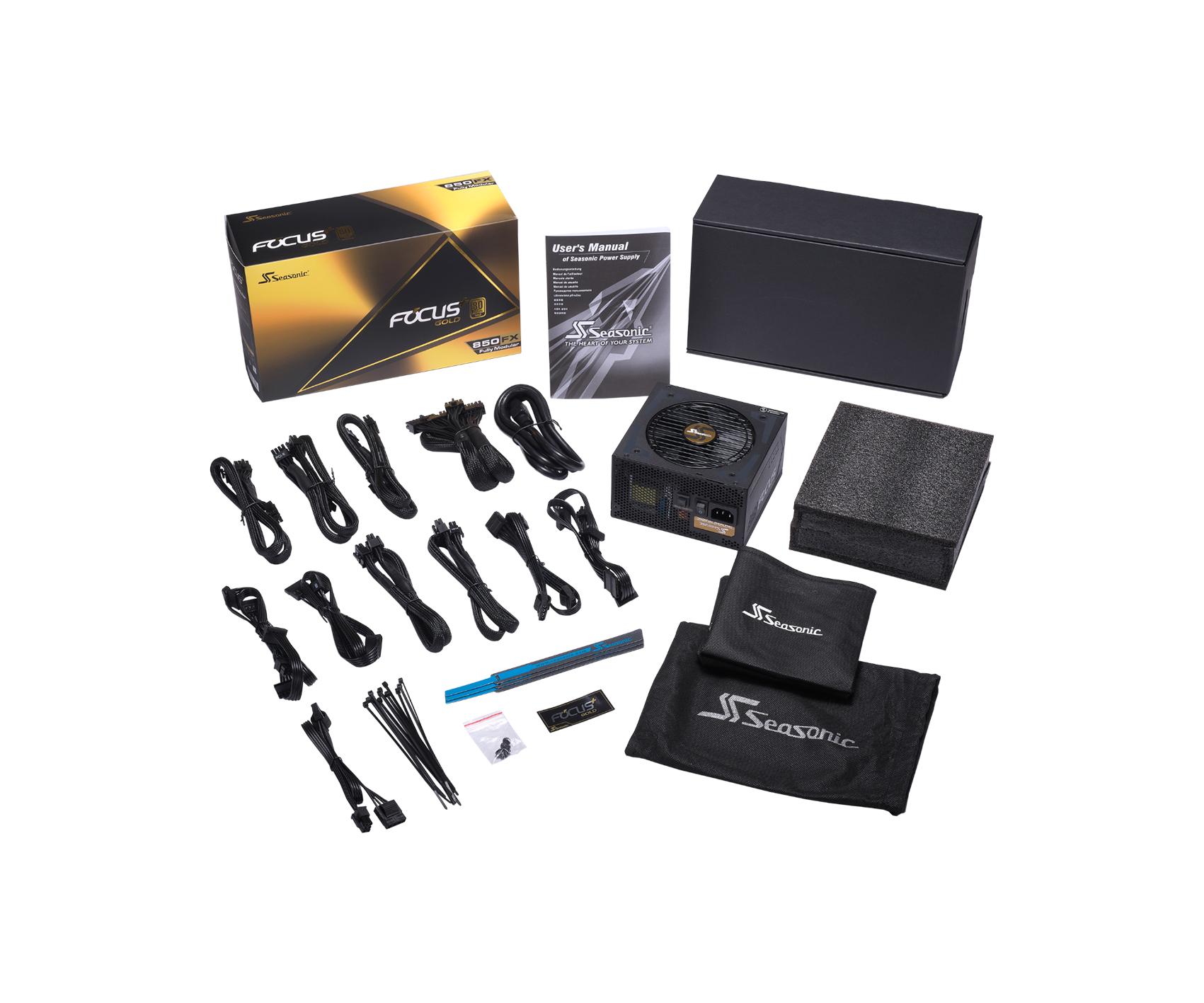Seasonic FOCUS PLUS 850W 80 Plus Gold Certified Full Modular Power Supply