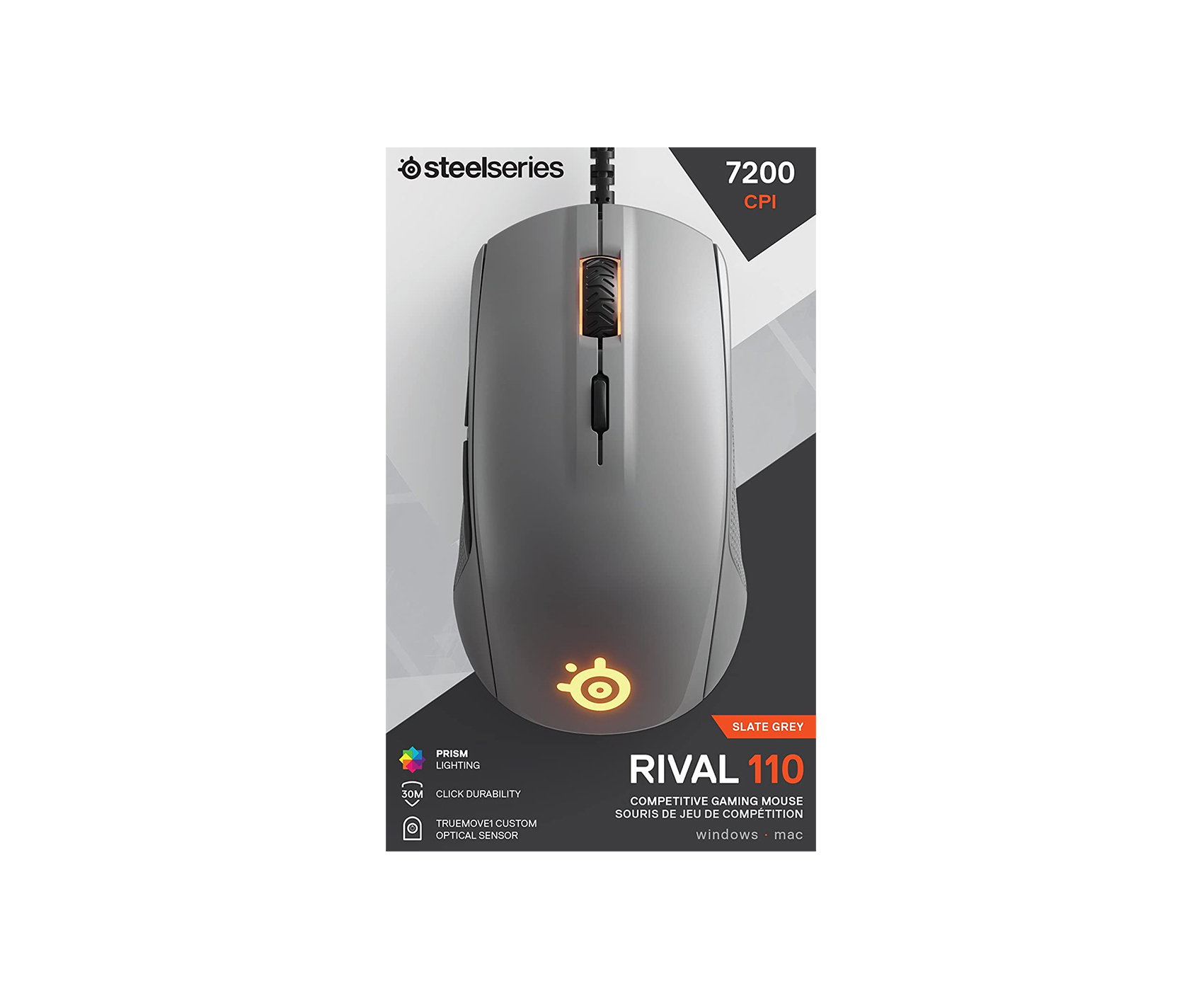 SteelSeries Rival 110 Gray gaming mouse