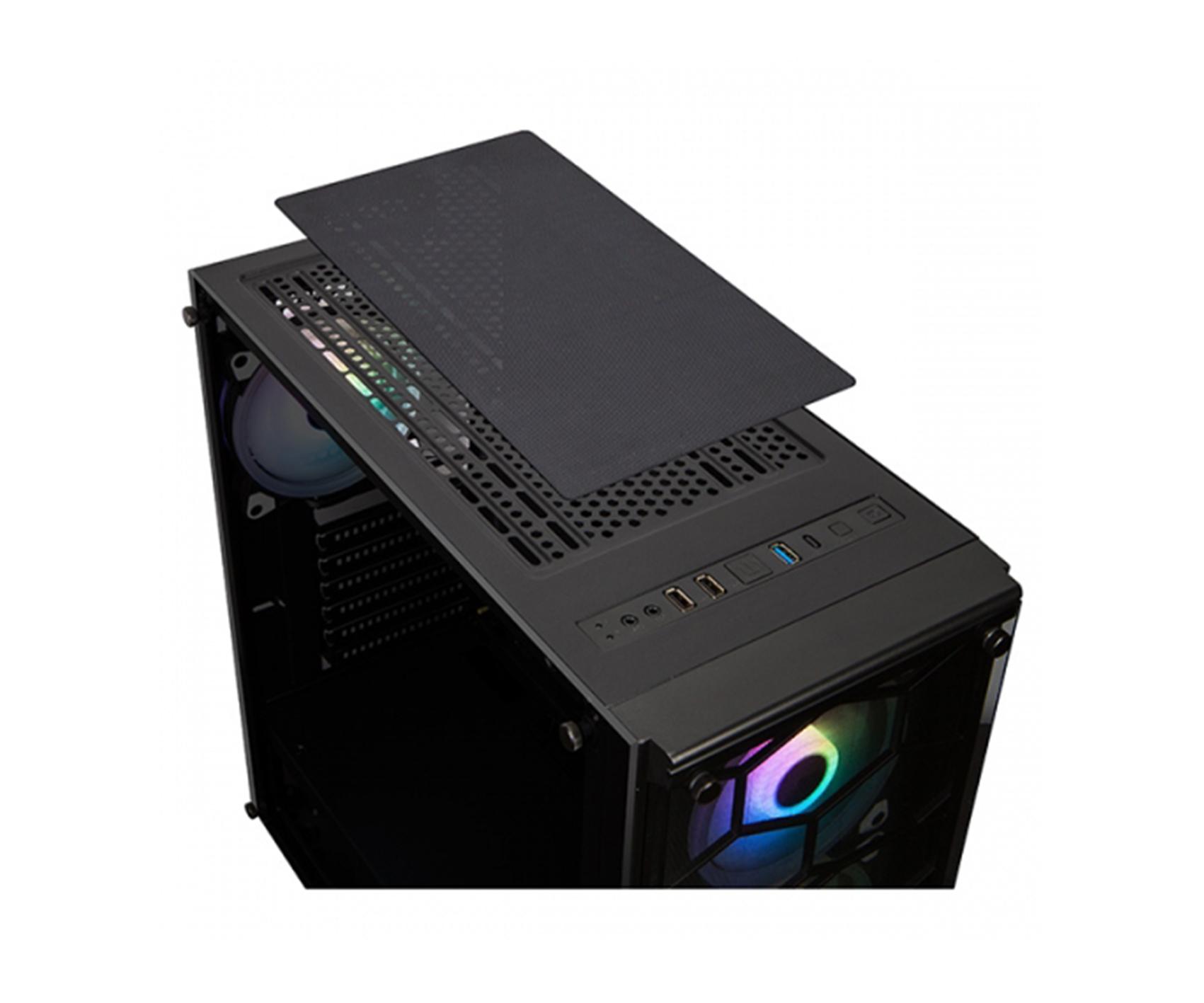 XIGMATEK Venom X Black With 4 RGB Fans Mid Tower Gaming Case