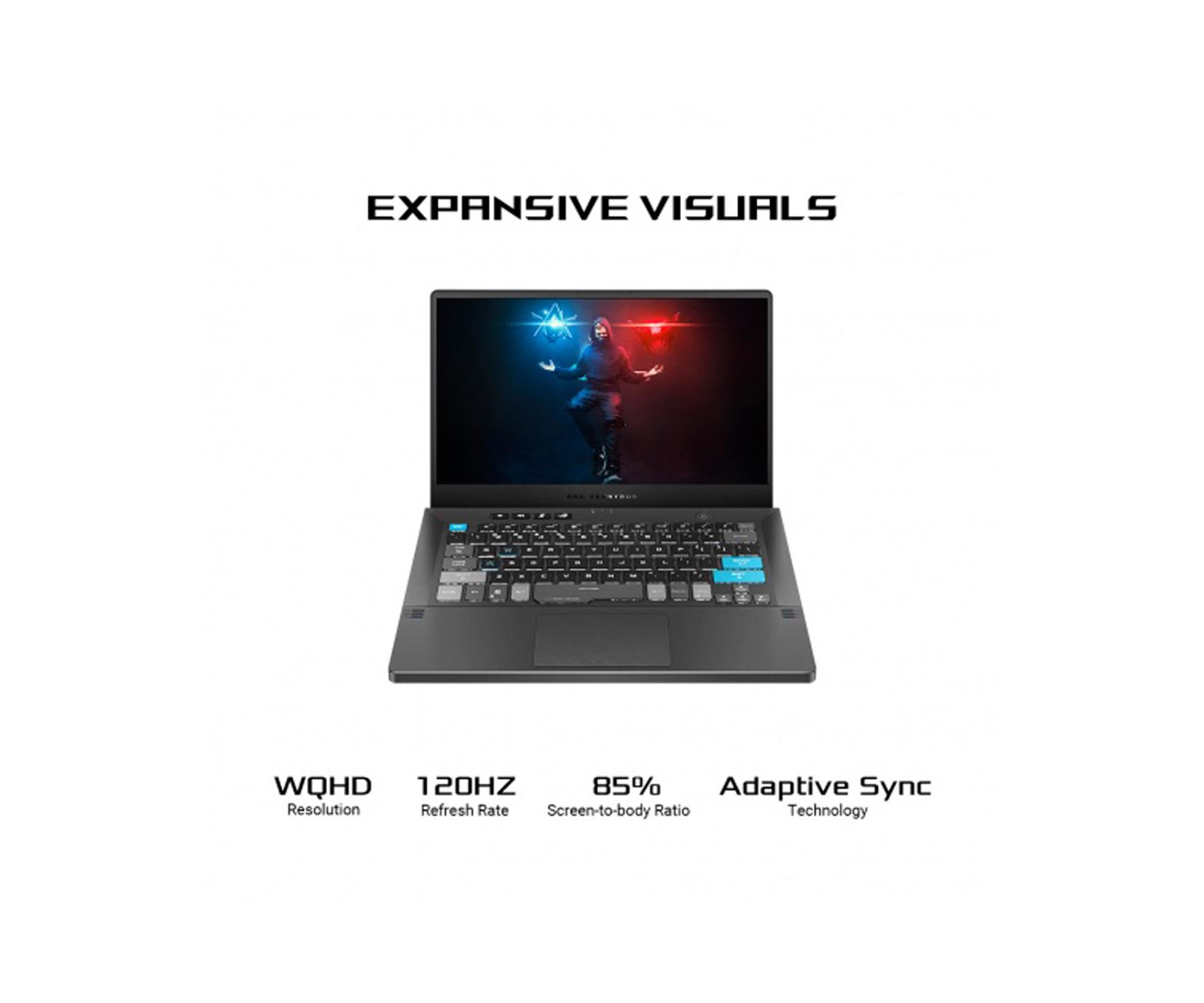 "ASUS ROG Zephyrus G14 Alan Walker Special Edition Gaming Laptop, 14"" 120Hz PANTONE Validated WQHD Display, GeForce RTX 3050 Ti, AMD Ryzen 9 5900HS, 16GB DDR4, 1TB SSD, Wi-Fi 6, GA401QEC-K2064T"
