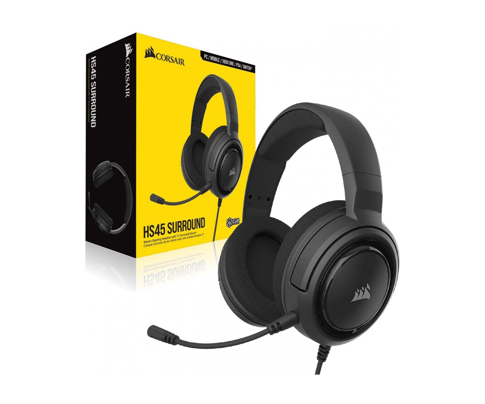 Corsair HS45 SURROUND 7.1 Gaming Headset — Carbon