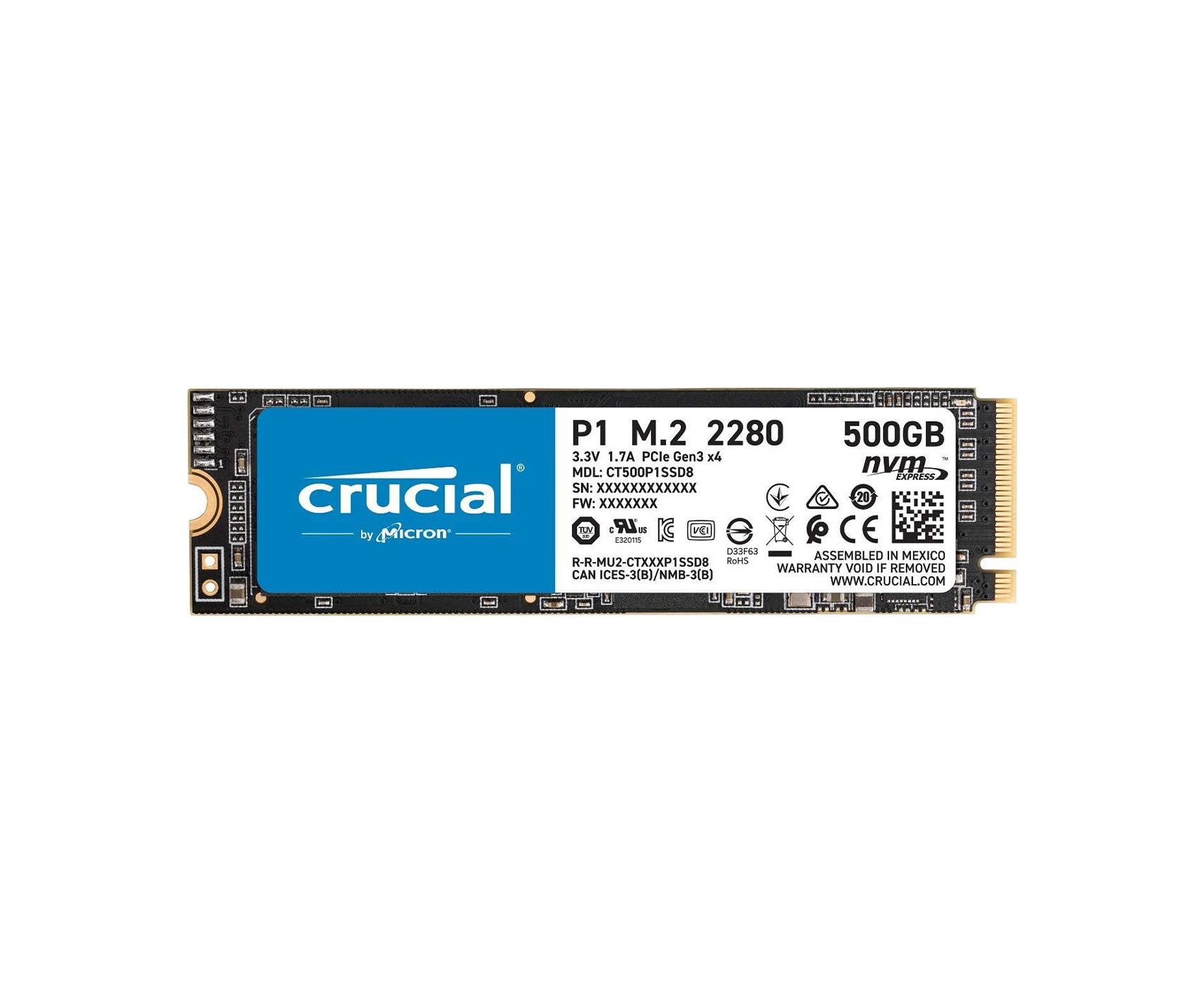 CRUCIAL P2 500GB NVME M.2 SSD