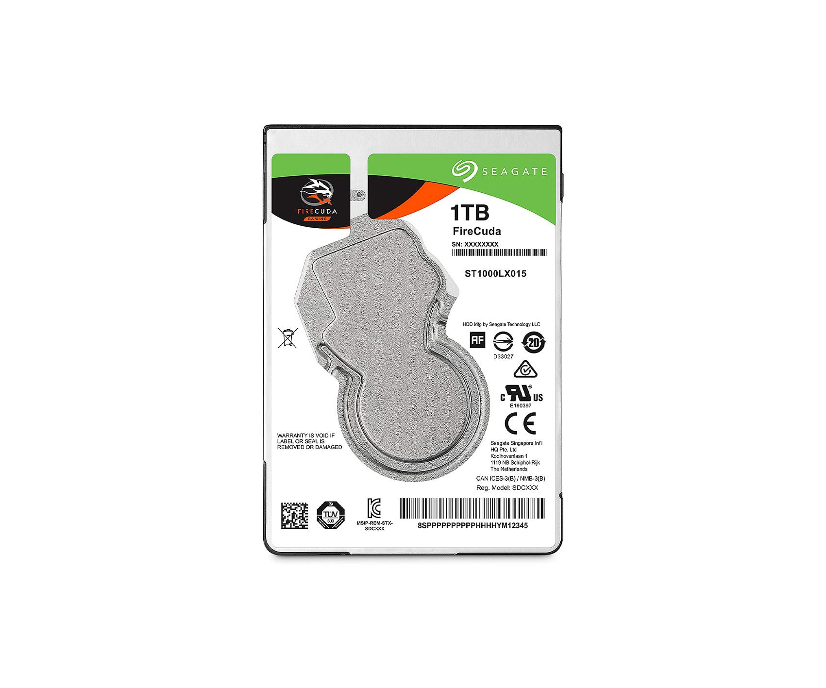 Seagate FireCuda 1 T.B 2.5 inch HDD
