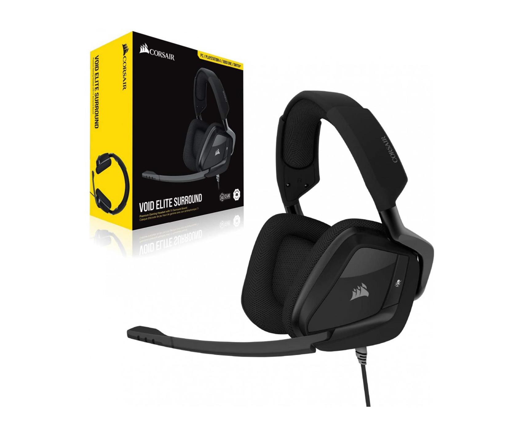 Corsair VOID ELITE SURROUND Premium Gaming Headset with 7.1 Surround Sound -Wired